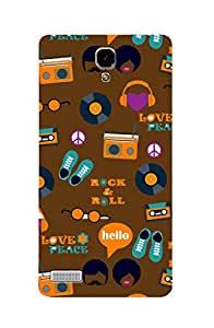 ZAPCASE PRINTED BACK COVER FOR REDMI NOTE 2 - Multicolor