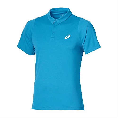 Asics-Club-Polo da tennis, blu, XL