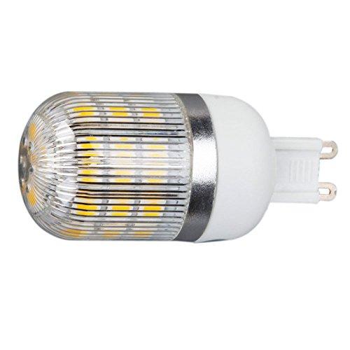 Corn Bulbs - G9 5W 400 Lumen 3000K Warm White Light Corn Light With Silver Side Stripes Cover (220V)