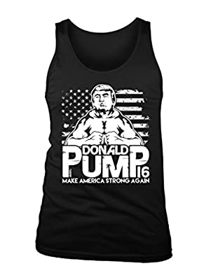 LOGOPOP Mens Donald Pump Tank Top