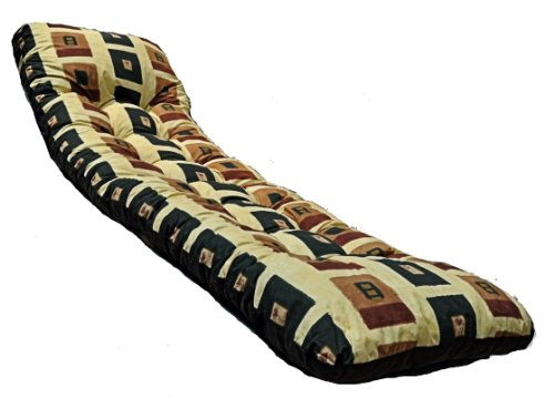 Deluxe Thick Replacement Garden Sun Bed Lounger Cushion Yellow Design