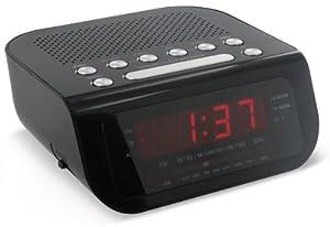 magnasonic mag mm172k ultra compact am fm clock radio with dual a. Black Bedroom Furniture Sets. Home Design Ideas