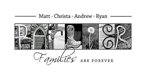 Personalized Family Gift - Creative Letter Art - Custom Alphabet photography - Photo Letter Art - Custom Name Sign - Family Sign- 10x20 Unframed (Letter Art Pictures compare prices)