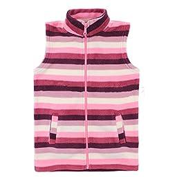 Bnspl Girls\' Candy Color Sleeveless Cardigan Vest