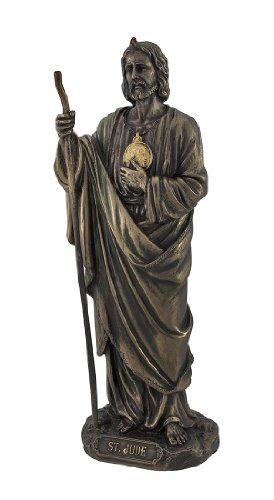 Bronzed St. Jude Statue 8 In.