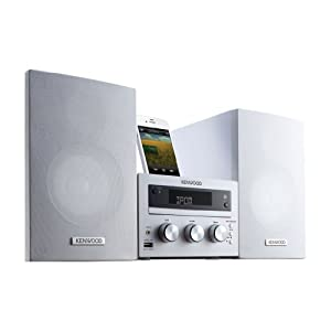 Lowest price for  Kenwood M-616DV-W Compact Hi-Fi Micro System DVD / Apple Dock / USB 2