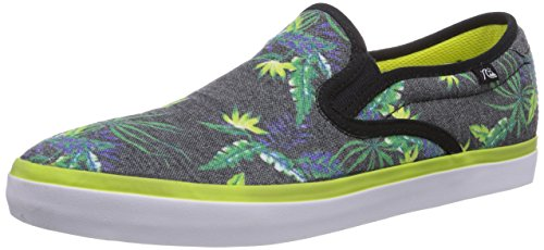 Quiksilver COMPASS M SHOE XKGY, Scarpe chiuse uomo, Multicolore (Mehrfarbig (BLACK/GREEN/YELLOW)), 43