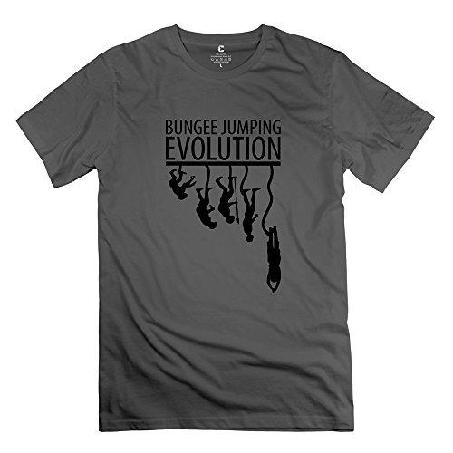 Kassem11Wa Men'S Bungee Jumping Evolution T-Shirt - Xs Deepheather