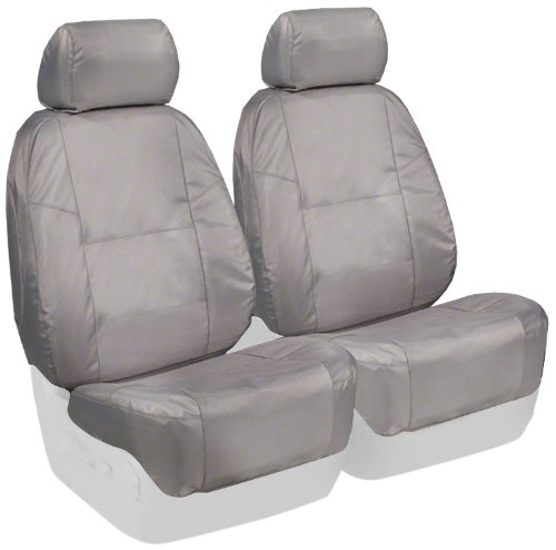 Coverking Custom Fit Front 50/50 Bucket Seat Cover For Select Nissan Frontier Models - Ballistic (Light Gray) front-69056