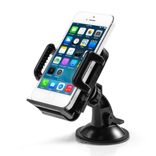 TaoTronics� Cosmic Windshield & Dashboard Car Mount Cradle Holder for iPhone 5S 5C 5 4S 4 3GS, Samsung Galaxy Note 3 Note 2 S4 S3 Mega, Nokia Lumia 1020 925 928 920, HTC Lustfulness 500 DROID DNA One 8X 8S, Google Nexus 4, BlackBerry Q10 Q5 Z30 Z10, LG Op