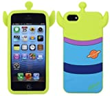 JBG 3D Lovely Disney Series Style Soft Silicone Cover Case Compatible for Apple iPhone 5 5S (Alien)