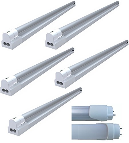 8 Watt LED Tube With Fixture (Pack Of 5 Tubes) - Natural White (CCT: 4500K) (8.00 Watts)