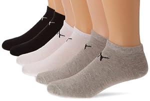 Puma 201106014 - Chaussettes de sport - Lot de 6 - Homme - Multicolore (Noir/Blanc/Gris) - FR: 43-46 (Taille fabricant: 3)
