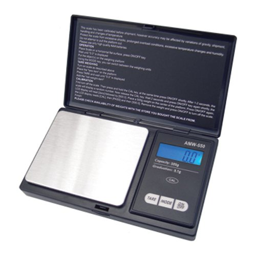IMAGE Digital Pocket Scale 500 Gram X 0.1 gram with 500 Gram Calibration Weight for lab chemicals, jewelry, diamonds, gemstones, gold, silver, coins, spices, gun powder, envelopes, food, diets and More