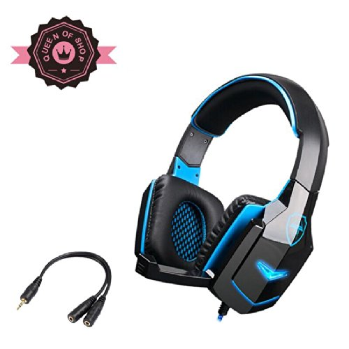 G918 S Black +Blue Thor Hammer Shape Usb Led Flashing Light 40Mm Speaker Braided Line Game Pc Headset With Rotating Microphone For Lol