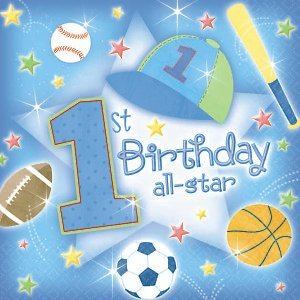 ShindigZ First Birthday All - Star Beverage Napkins