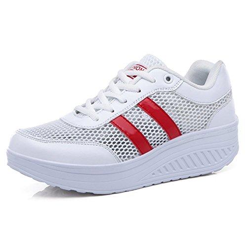 le scarpe della maglia di Miss Xia Ji/scarpe bianche traspirante crosta spessa/scarpe casual-C Lunghezza piede=23.8CM(9.4Inch)