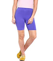 Espresso Solid Women's Basic Shorts-ROYAL