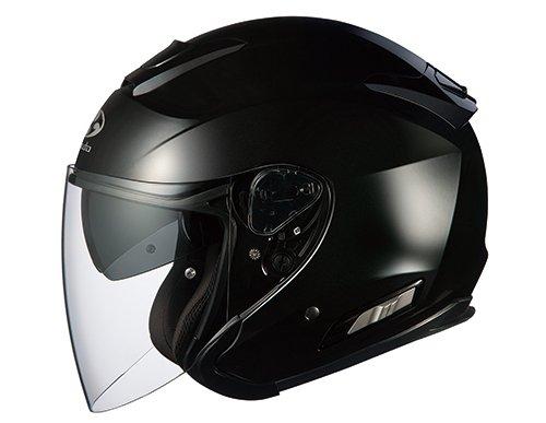 オージーケーカブト(OGK KABUTO)バイクヘルメット ジェット ASAGI ブラックメタリック (サイズ:L)