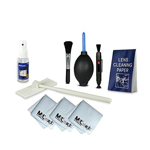 Sensor Reinigungsset | Sensor Cleaning Kit + 8in1 Reinigungsset für Spiegelreflexkameras [Canon, Nikon, Pentax, Sony, Samsung, Panasonic], Objektive, DSLR Kameras, Smartphones, Camcorder, etc. - inklusive: ROGGE Touchi - All Natural Lenscleaner - 50ml Flasche + Reinigungsstift [LensPen] + Blasebalg + 3x Mikrofasertuch + 50x Einweg - Reinigungstuch + Reinigungspinsel - Silikon- und Schleifmittelfrei