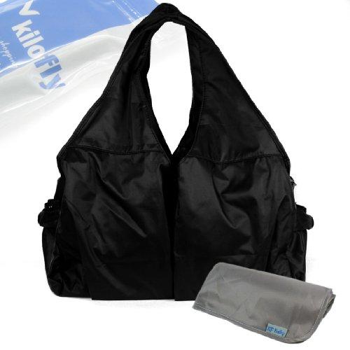 KF Baby UrBANE Diaper Bag (Black)+ Diaper Changing Pad Value Combo