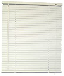 DESIGNER\'S TOUCH 1-Inch Vinyl Mini Blinds, White, 71X64 In. - 833392