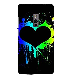 EPICCASE Heart paint Mobile Back Case Cover For OnePlus 2 (Designer Case)
