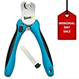 Best Dog Nail Clippers and Trimmer On Amazon - Free Nail File Included - Razor Sharp Blades - Safety Stop to Prevent Overcutting Nails - Non Slip Handles - For Professional, Safe, At Home Pet Grooming - By Boshel®