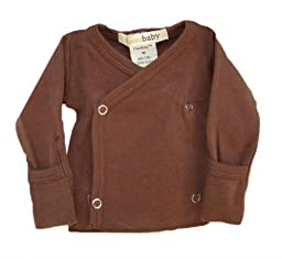 L\'ovedbaby Wrap Shirt, Brown 0-3 Months
