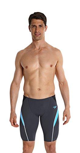 speedo-badeanzug-fit-banador-con-paspartu-hombre-color-oxid-grey-fresh-water-black-tamano-34