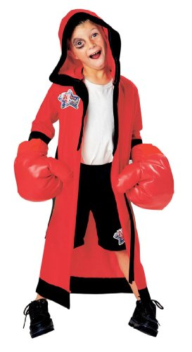 LIL CHAMP BOXER HALLOWEEN COSTUME DRESS UP WITH INFLATABLE GLOVES SMALL 4 - 6