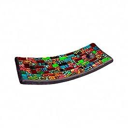 Ancient Mosaic con texto en inglés de incienso plato - diseño de
