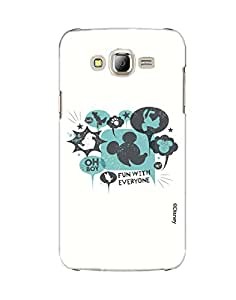 Pick Pattern with Exclusive DISNEY Characters Back Cover for Samsung Galaxy J7