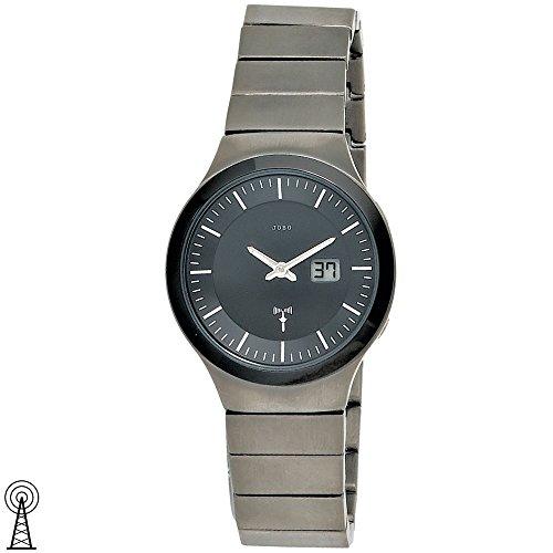 JOBO Damen-Funk-Armbanduhr Titan Mineralglas Funkuhr Datumsanzeige