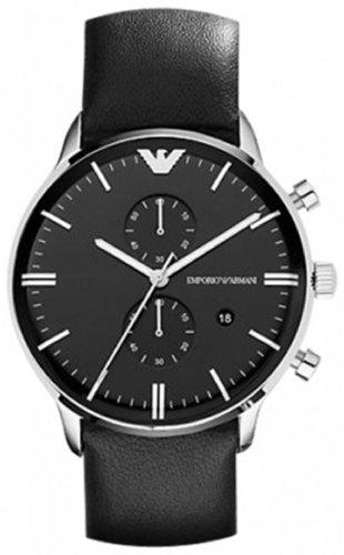 Emporio Armani Men's AR0397 Black Leather Watch
