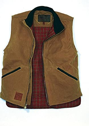Outback Trading Co Men's Co. Sawbuck Flannel Lined Oilskin Vest Sage XX-Large