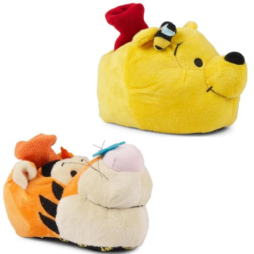 New Kids Boys Girls Winnie The Pooh Tigger Official Disney Character Slippers