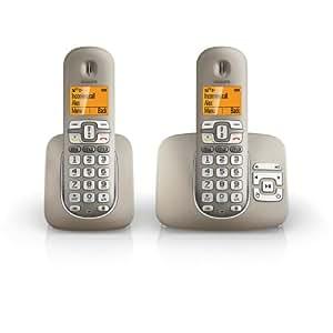 Philips XL3952S/38 Téléphone sans fil Duo 2 combinés avec répondeur Argent