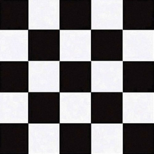 Creative Converting 50 Count Beverage Napkins, Black Check front-560061