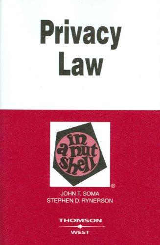 Privacy Law in a Nutshell (In a Nutshell (West Publishing))