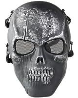 Masque Protection Visage Crâne Squelette Noir Airsoft BB Fusil Armée