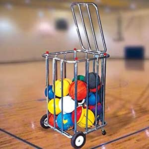 30-Ball Ball Cart and Storage Unit with locking top by TC Sports