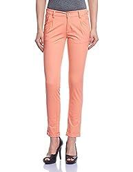 Madame Women's Slim Pants (M1427010_Peach_32)