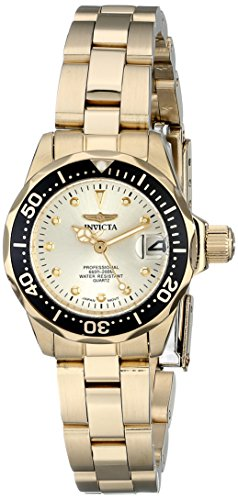 Invicta Women's 17038 Pro Diver Analog Display Japanese Quartz Gold Watch