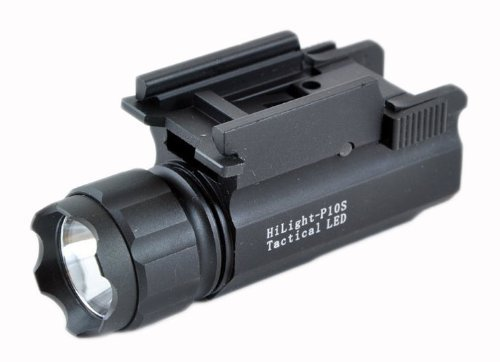 Hilight 300 Lumen Pistol Led Strobe Flashlight With Weaver Quick Release High Quality Cree Xp-G2 Led With 300 Lumen Output Steady On/Strobe Modes With Runtime Of 75 Minutes Sliding On/Off Switch (No Pressure Switch)