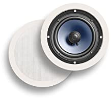 Polk Audio RC60i In-Ceiling In-Wall Speakers Pair White