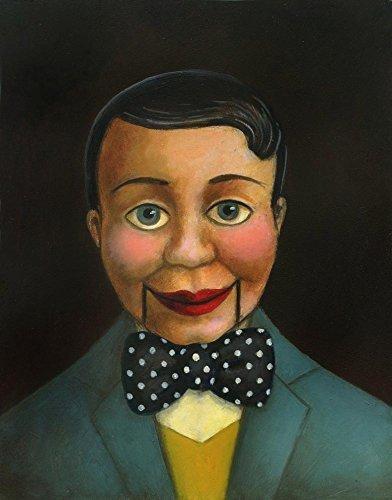 Ventriloquist Dummy Portrait in Blue - Puppet Art