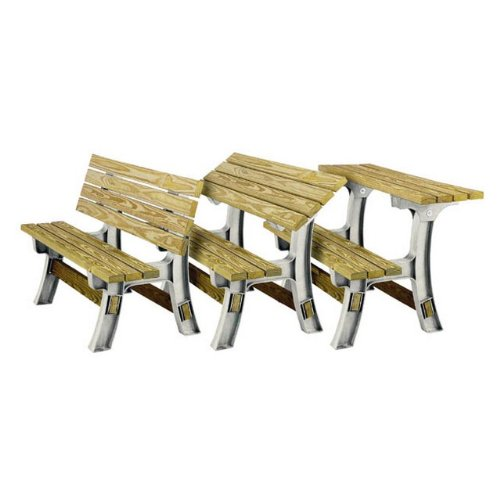 Convertible Bench Table Frame Picnic Folding Patio Garden Outdoor Furniture Flip Ebay