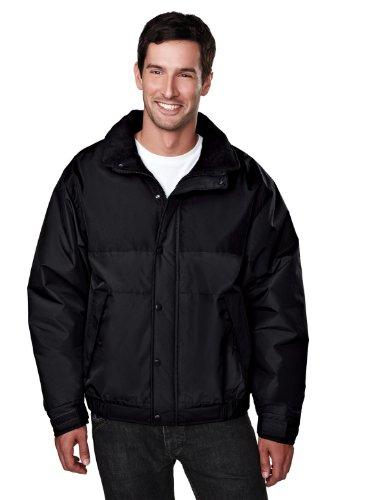 Tri-Mountain Colorblock Nylon Jacket With Fleece Lining. 8900Tm - Black / Black_4Xl front-946375