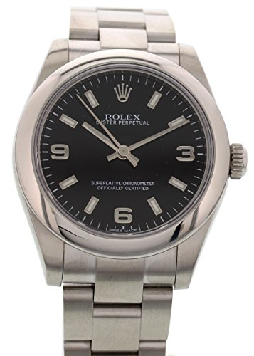 rolex-oyster-perpetual-swiss-automatic-black-unisex-adult-watch-177200-certified-pre-owned